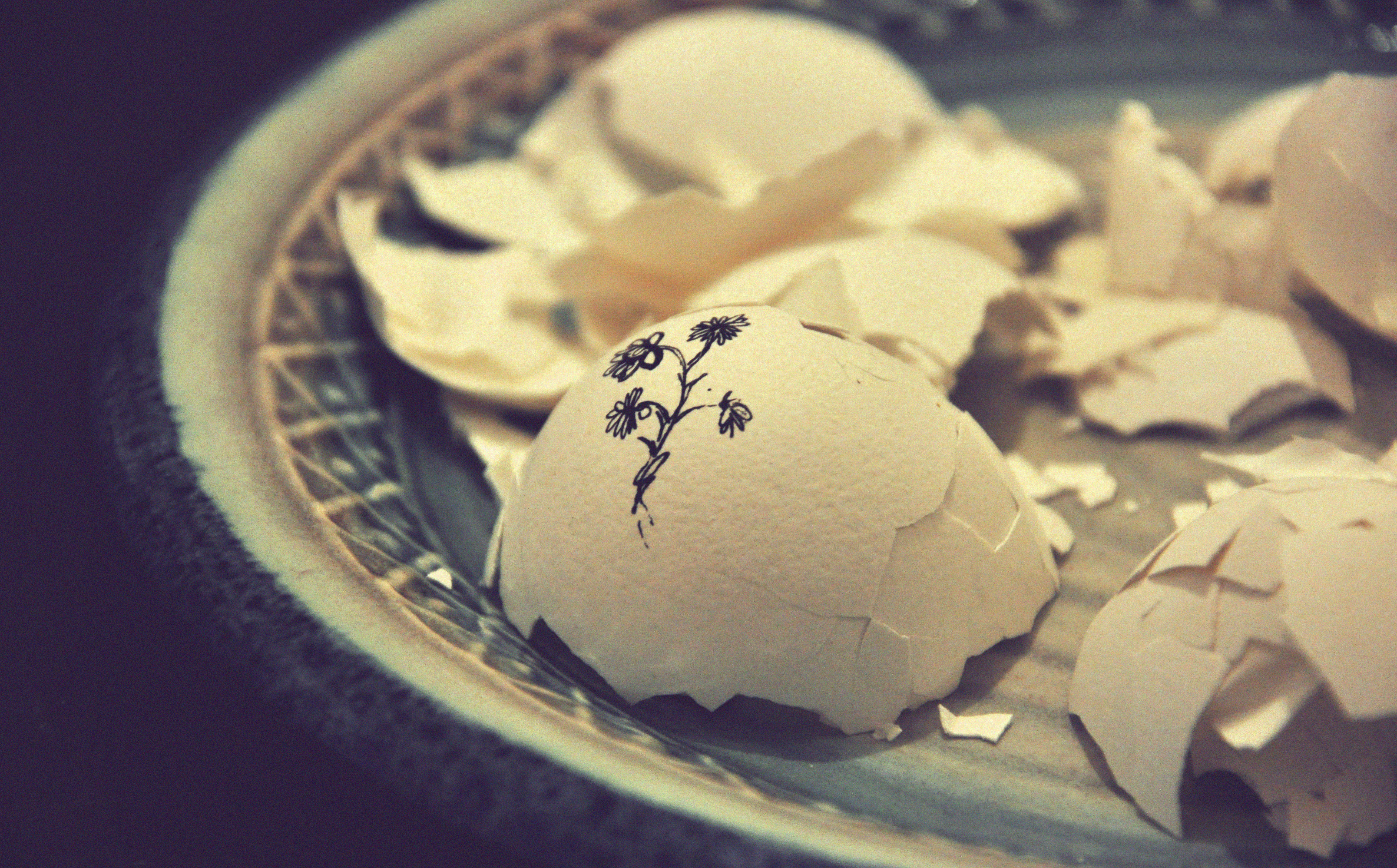 Japan broken bowl