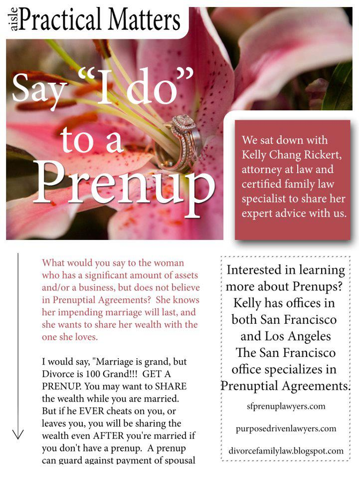 how to get a prenuptial agreement in california